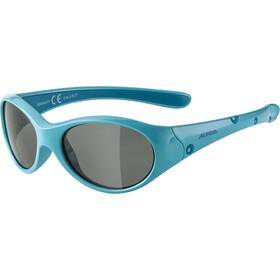 Alpina Flexxy Bril Meisjes, turquoise/black mirror